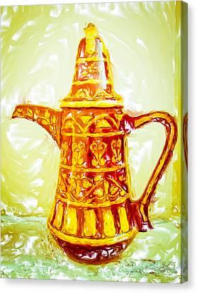 Coffee Pot Canvas Print by Tom Gowanlock
