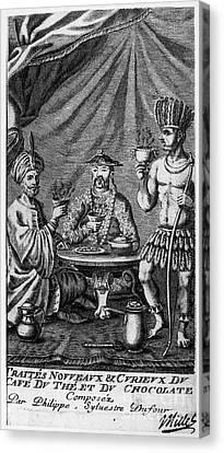 Coffee, Tea & Chocolate, 1685 Canvas Print by Granger