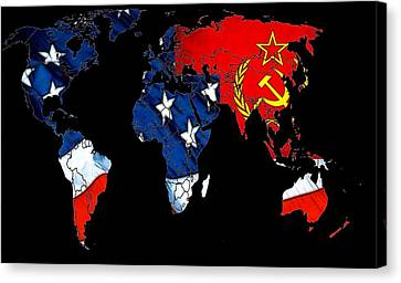 Cold War Map Canvas Print by Steve K