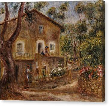 Collette's House At Cagne Canvas Print by Pierre Auguste Renoir