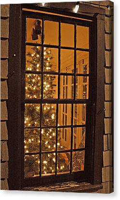 Colonial Christmas Canvas Print by Joann Vitali