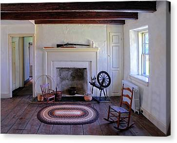 Colonial Living Room Canvas Print by Dave Mills