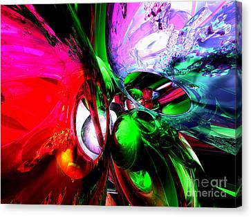 Color Carnival Abstract Canvas Print by Alexander Butler
