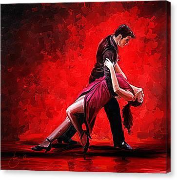 Color Of Love Canvas Print by Kiran Kumar