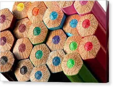 Color Pencils Canvas Print by Ralucahphotography.ro