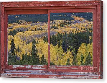 Colorado Red Rustic Picture Window Frame Photo Art Canvas Print by James BO  Insogna