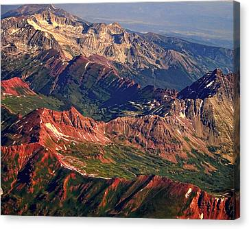 Colorful Colorado Rocky Mountains Planet Art Canvas Print by James BO  Insogna