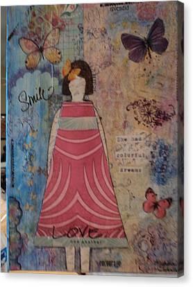 Colorful Dreams  Canvas Print by Anne-Elizabeth Whiteway