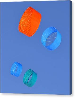 Colorful Kites Canvas Print by David Lee Thompson