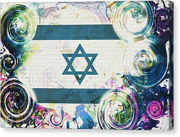 Colorful Land Of Israel Canvas Print by Jenn Bodro