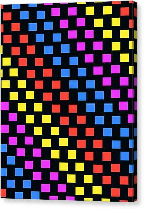 Colorful Squares Canvas Print by Louisa Knight