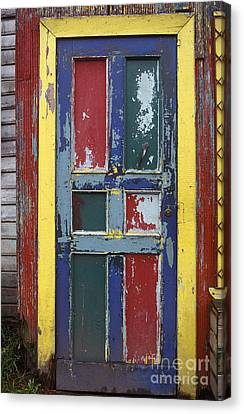 Colorful Wooden Door Canvas Print by Will & Deni McIntyre