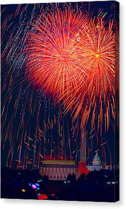 Colors Over The Capital Canvas Print by David Hahn