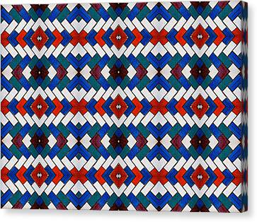 Colourful Tile Symmetry Canvas Print by Hakon Soreide