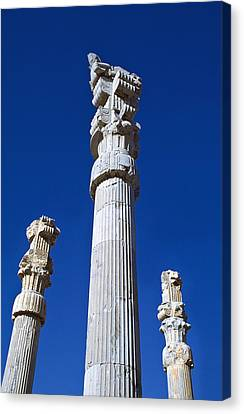 Columns Of  Xerxes Gateway Canvas Print by Axiom Photographic