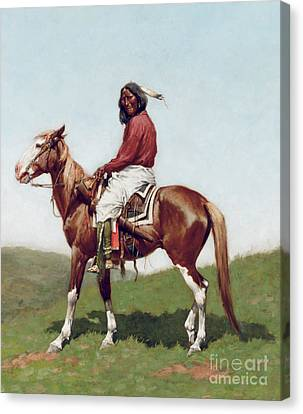 Comanche Brave Canvas Print by Frederic Remington