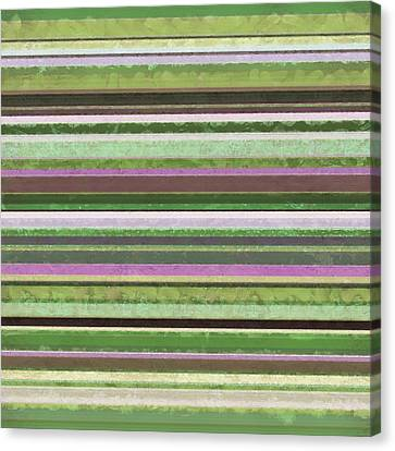 Comfortable Stripes Lv Canvas Print by Michelle Calkins