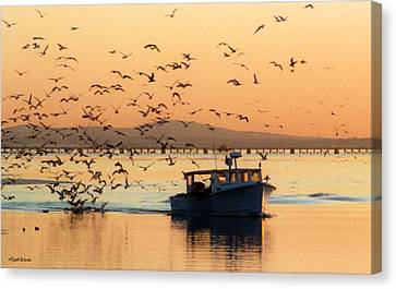 Coming Home With Take Out Canvas Print by Michelle Wiarda