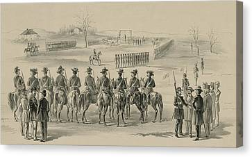 Commemorative Print Depicting Execution Canvas Print by Everett