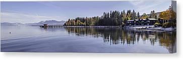 Commons Beach Lake Tahoe Canvas Print by Brad Scott