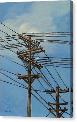 Communication Canvas Print by Torrie Smiley