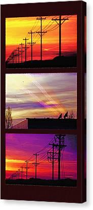 Communications Triptych Canvas Print by Steve Ohlsen