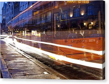 Commuter Bus Canvas Print by A A