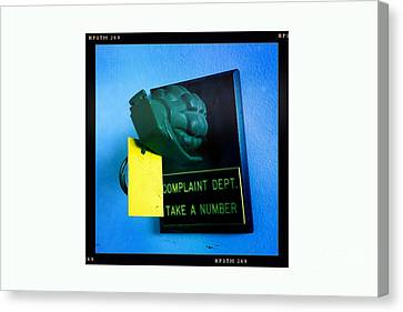 Complaint Dept Canvas Print by Nina Prommer