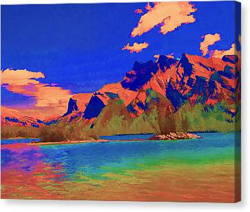 Complementary Mountains Canvas Print by Jo-Anne Gazo-McKim
