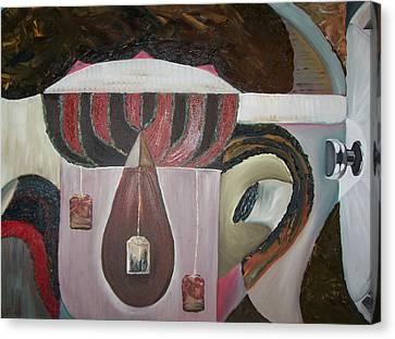 Components Of Tea Canvas Print by Nada Al-Ghussain