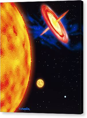 Computer Artwork Of Stages In A Star's Life Canvas Print by Victor Habbick Visions