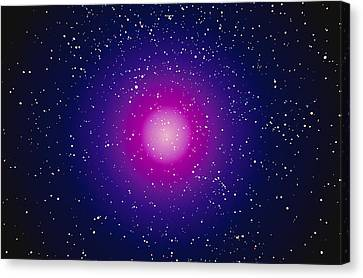 Computer Graphic Image Of A Galaxy Canvas Print by Stocktrek