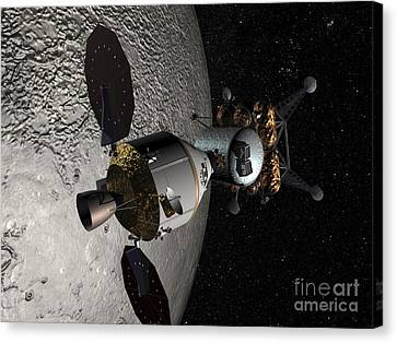 Concept Of The Orion Crew Exploration Canvas Print by Stocktrek Images