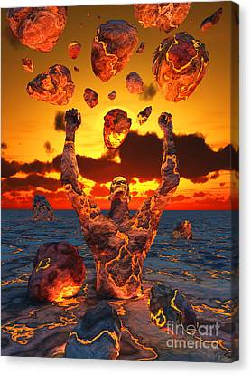Conceptual Image Based On The Biblical Canvas Print by Mark Stevenson