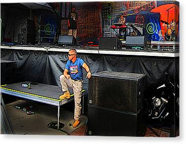 Concert Security Guy Canvas Print by Ric Soulen