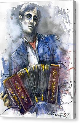 Concertina Player Canvas Print by Yuriy  Shevchuk