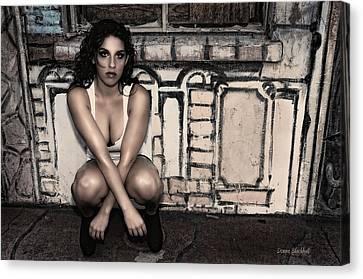 Concrete Velvet 10 Canvas Print by Donna Blackhall