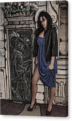 Concrete Velvet 5a Canvas Print by Donna Blackhall