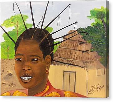 Congolese Woman Canvas Print by Nicole Jean-Louis