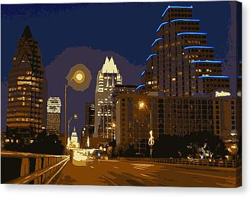 Congress Street Bridge Color 16 Canvas Print by Scott Kelley