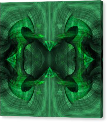 Conjoint - Emerald Canvas Print by Christopher Gaston