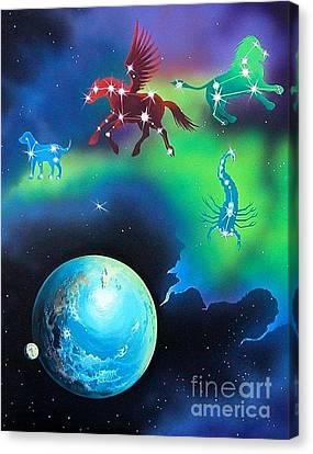Constellations Canvas Print by Kimberlee  Ketterman Edgar