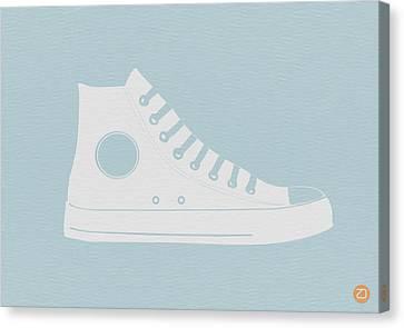 Converse Shoe Canvas Print by Naxart Studio