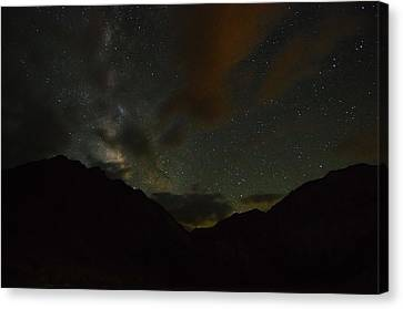 Convict Lake Milky Way Galaxy Canvas Print by Scott McGuire