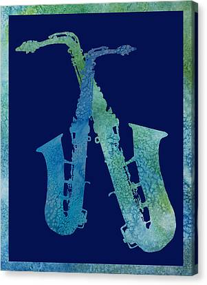 Cool Jazzy Duet Canvas Print by Jenny Armitage