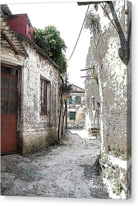 Corfu Street Canvas Print by David Bearden