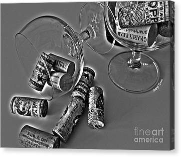 Corks 3 Canvas Print by Cheryl Young