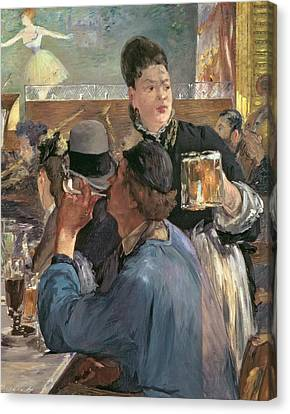 Corner Of A Cafe-concert Canvas Print by Edouard Manet