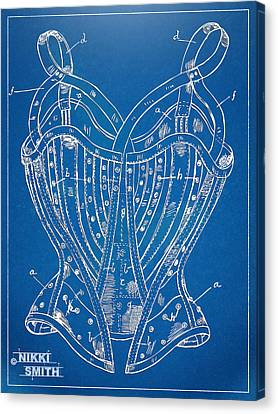 Corset Patent Series 1905 French Canvas Print by Nikki Marie Smith
