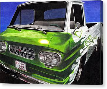 Corvair 95 Loadside Canvas Print by Annie Nelson